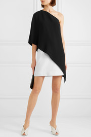 Asymmetric two-tone cady dress