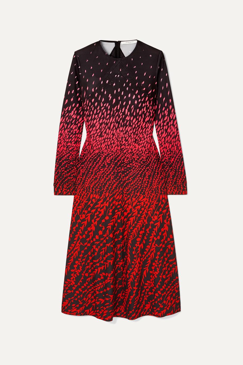 Givenchy   Printed crepe midi dress   NET-A-PORTER.COM