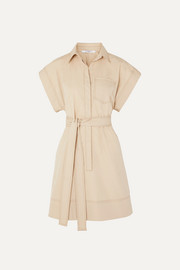 Givenchy Belted cotton-poplin mini dress