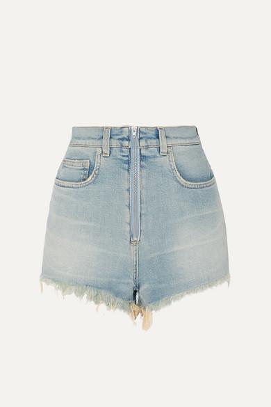 b3e53641212c9 Givenchy | Short en jean stretch délavé effet vieilli | NET-A-PORTER.COM