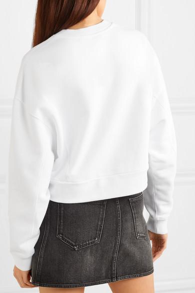 Givenchy Shirts Cropped printed cotton-jersey sweatshirt