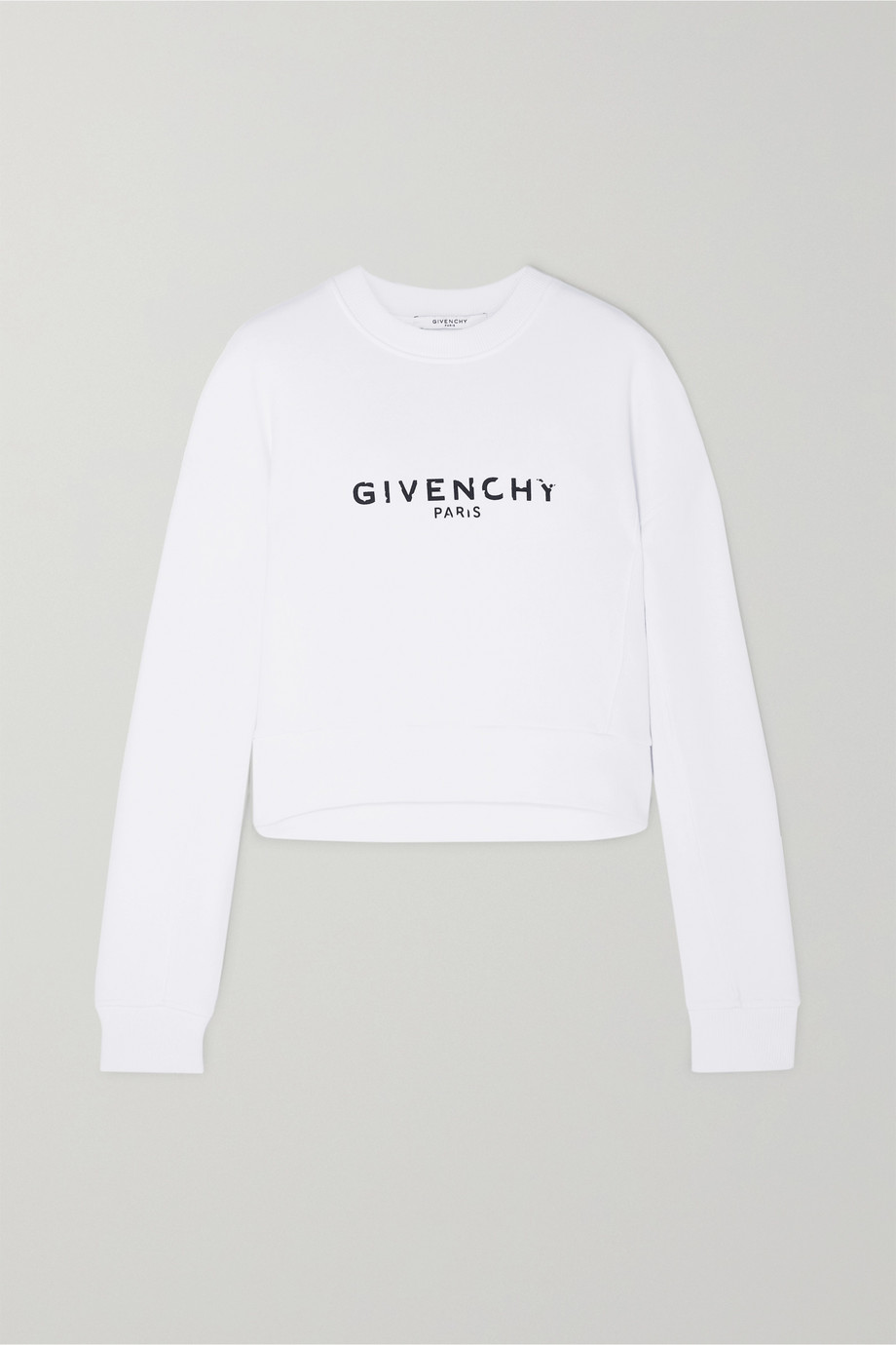 Givenchy Cropped printed cotton-jersey sweatshirt