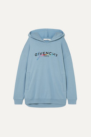 Givenchy Oversized printed embroidered cotton-jersey hoodie