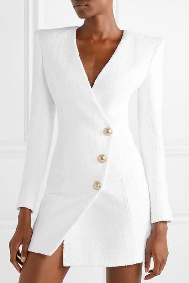 Image result for black women in white blazer dresses