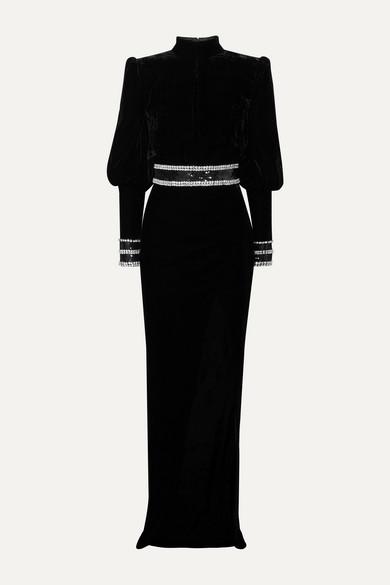 Balmain Dresses Embellished velvet gown