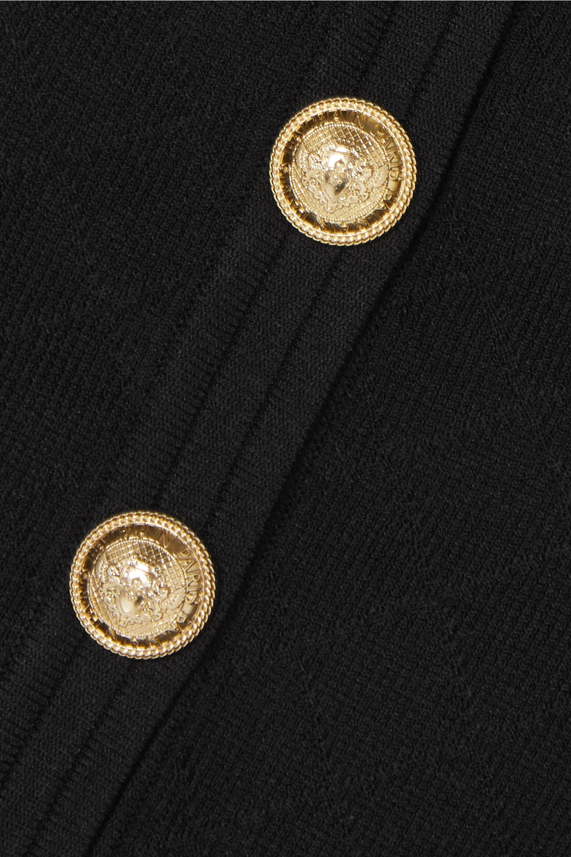 Balmain 纽扣缀饰提花针织开襟衫