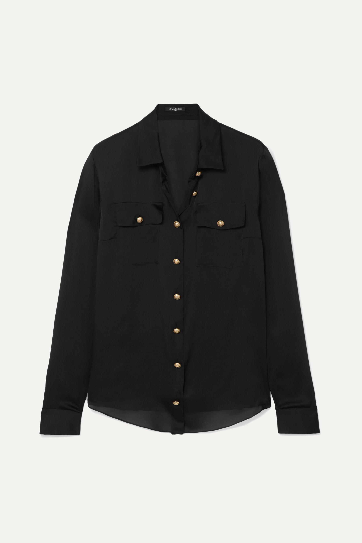 Balmain Silk-satin shirt
