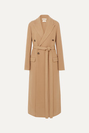 Bottega Veneta Double-breasted belted cashmere coat
