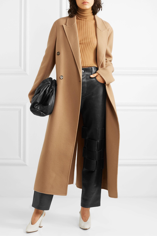 Bottega Veneta Double-breasted belted cashmere coat