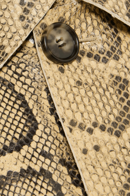 Bottega Veneta Trench-coat en cuir effet serpent