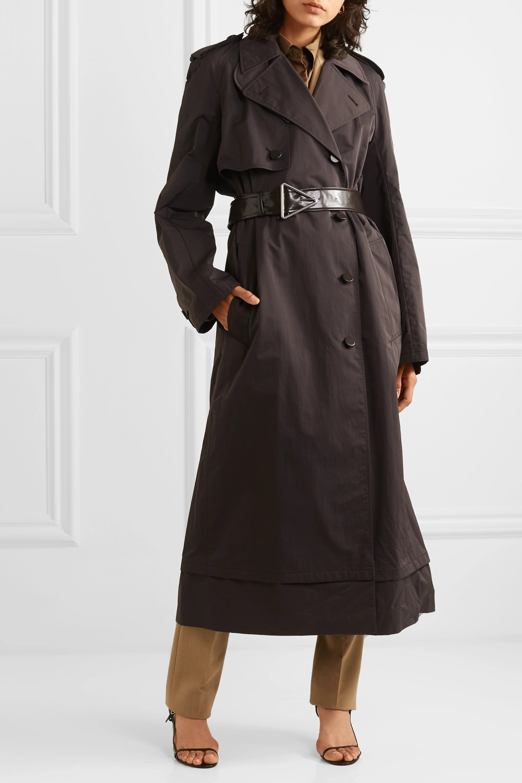 Bottega Veneta Belted double-breasted shell trench coat
