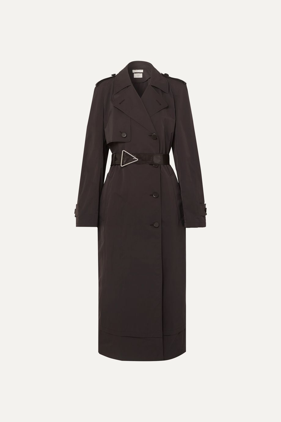 Bottega Veneta Belted double-breasted shell trench coat