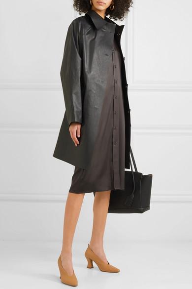 Bottega Veneta Dress Stretch-silk satin shirt dress