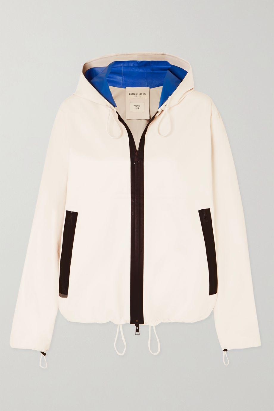 Bottega Veneta Hooded two-tone leather jacket