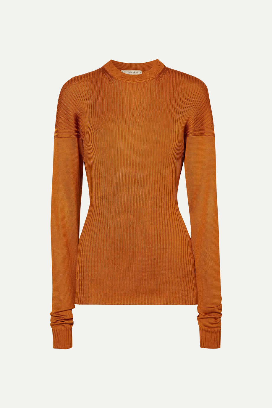 Paneld Ribbed Silk Sweater by Bottega Veneta, available on net-a-porter.com for $1650 Kylie Jenner Top Exact Product