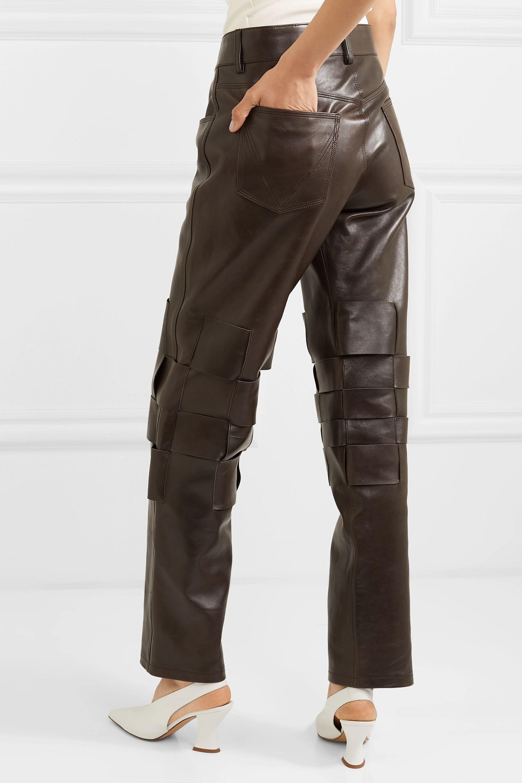 Bottega Veneta Intrecciato leather pants