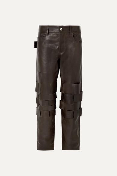 Intrecciato Leather Pants by Bottega Veneta