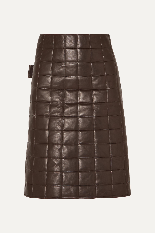 Bottega Veneta Quilted leather skirt
