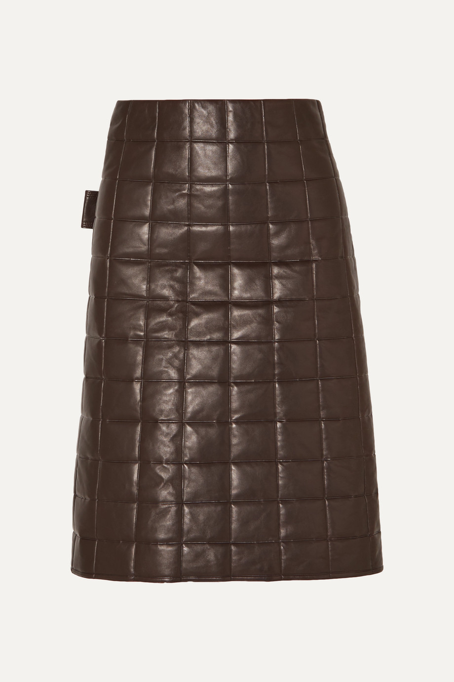 Bottega Veneta Quilted leather skirt