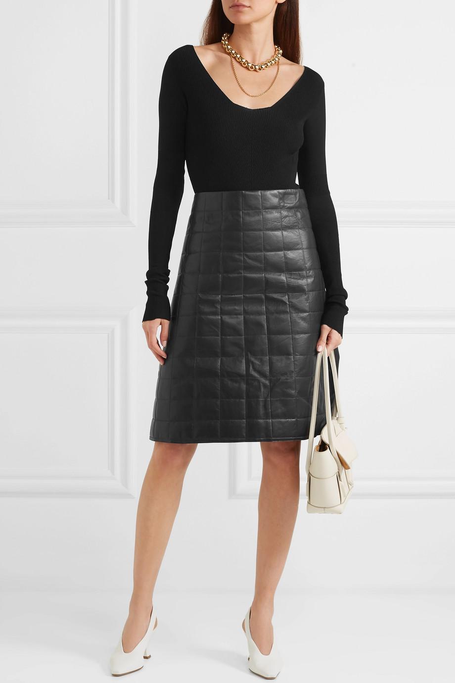 Bottega Veneta Ribbed-knit bodysuit