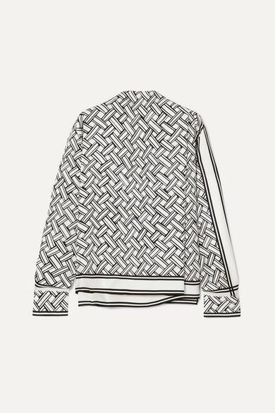 Bottega Veneta Tops Tie-neck printed silk-twill blouse