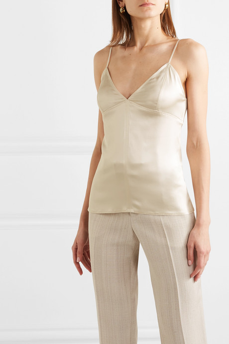 Stretch-silk satin camisole