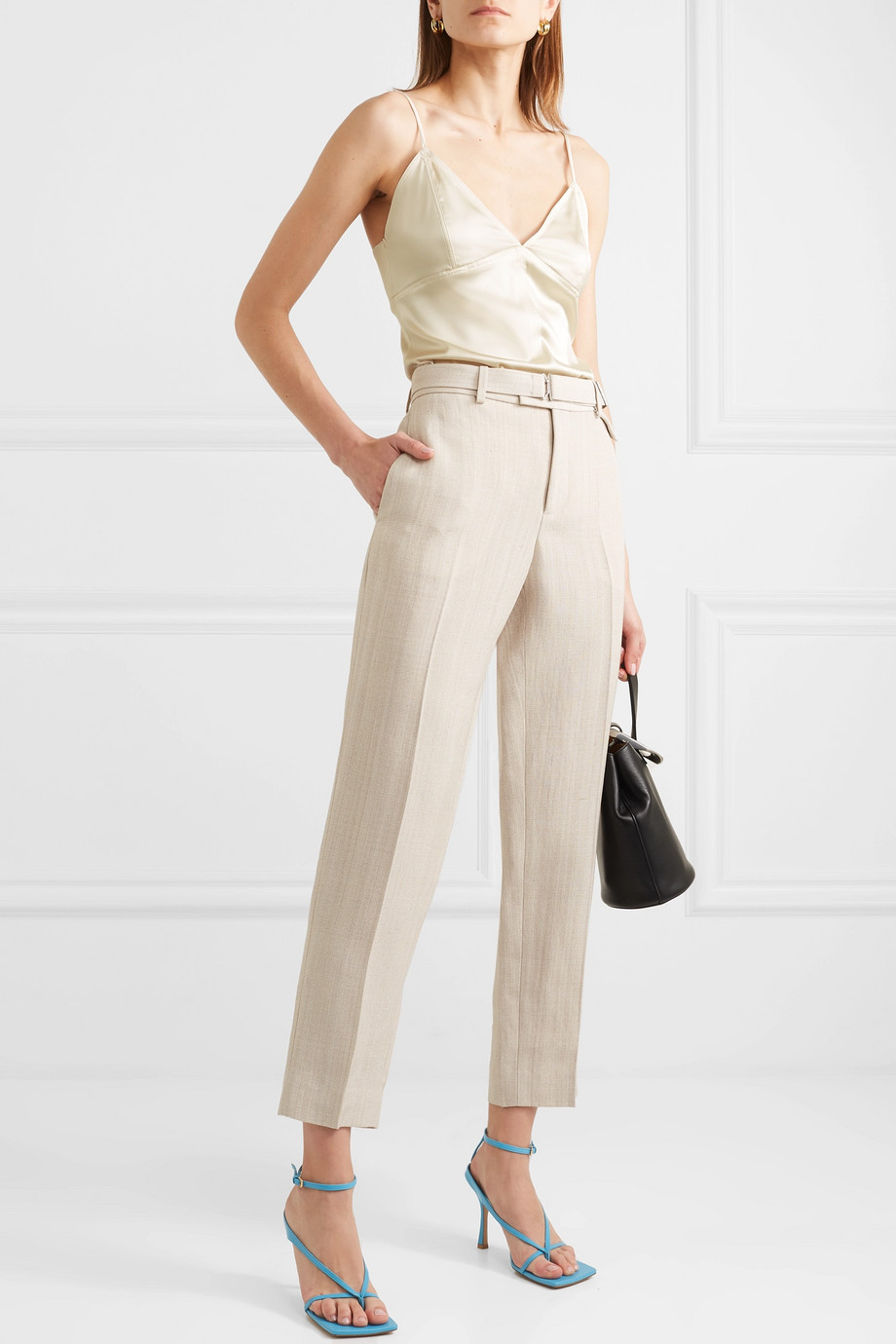 Bottega Veneta Stretch-silk satin camisole