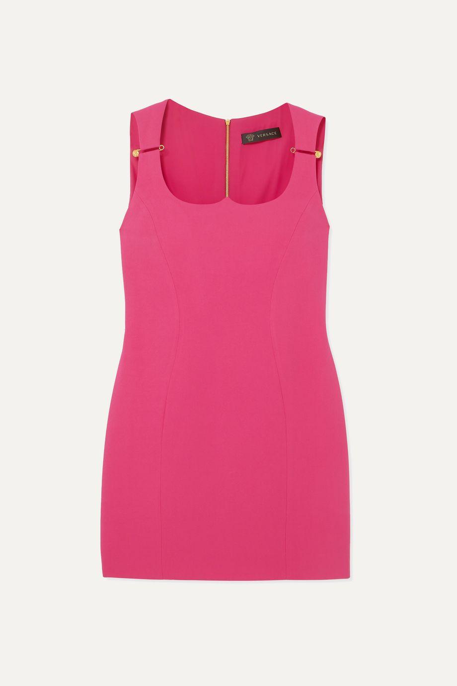 Versace Embellished crepe mini dress