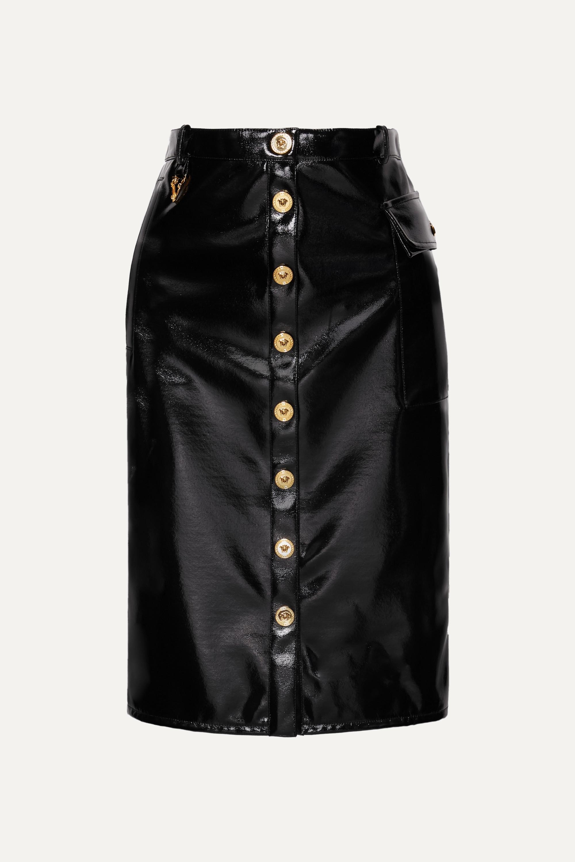 Versace Vinyl midi skirt