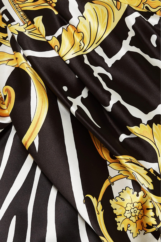 Versace Asymmetric printed satin skirt