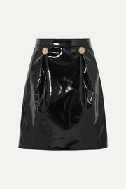 Versace Embellished PVC mini skirt