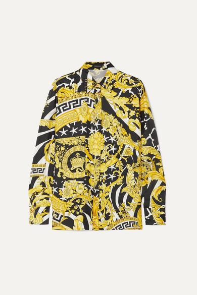 Printed Silk Shirt by Versace