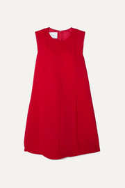 Valentino Pleated silk-crepe mini dress