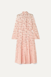 Valentino Floral-print silk crepe de chine midi dress
