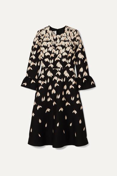 Valentino Dresses Floral-print wool and silk-blend midi dress