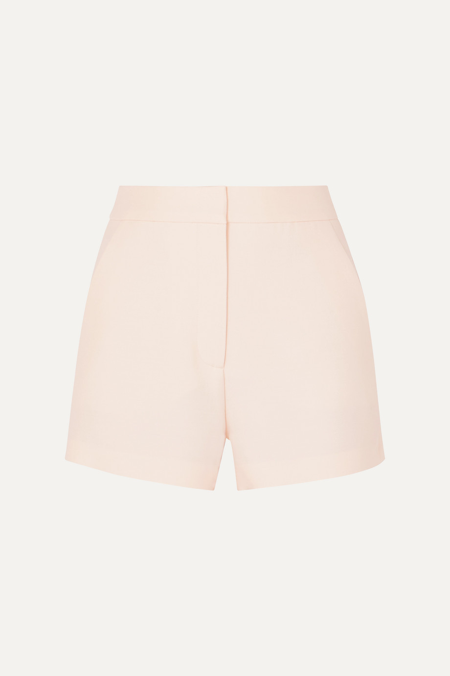 Valentino Wool and silk-blend grain de poudre shorts