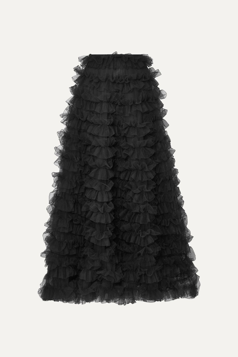 Valentino Tiered ruffled chiffon maxi skirt