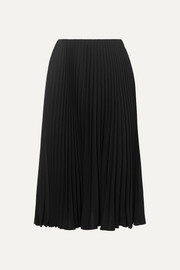 Valentino Pleated silk midi skirt