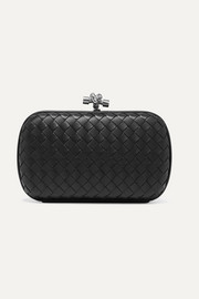 Chain Knot intrecciato leather clutch