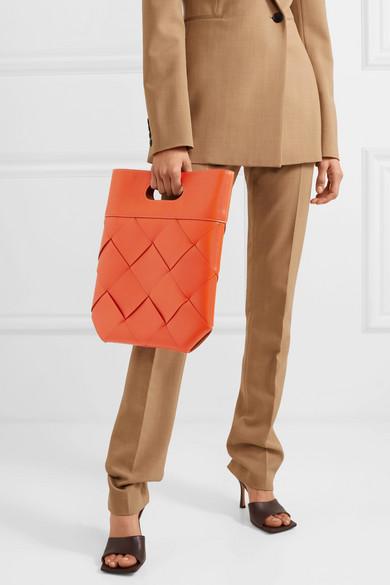 Bottega Veneta Slip Intrecciato Leather Tote Bag Net A