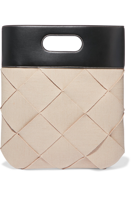 Bottega Veneta Slip intrecciato linen and leather tote