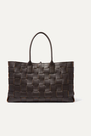 Cabas medium intrecciato leather tote