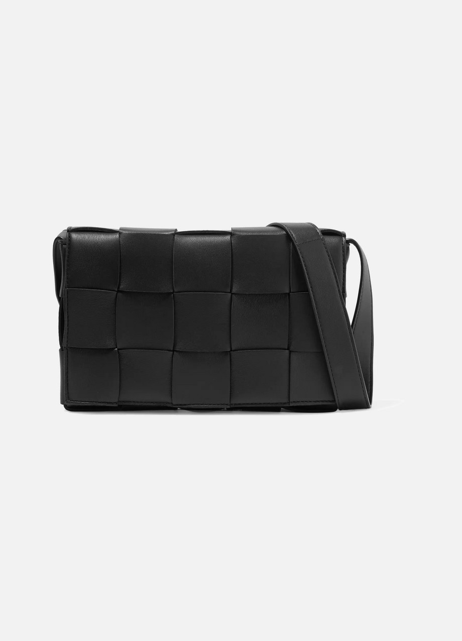 Bottega Veneta Cassette intrecciato leather shoulder bag