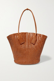 Bottega Veneta Basket intrecciato leather tote