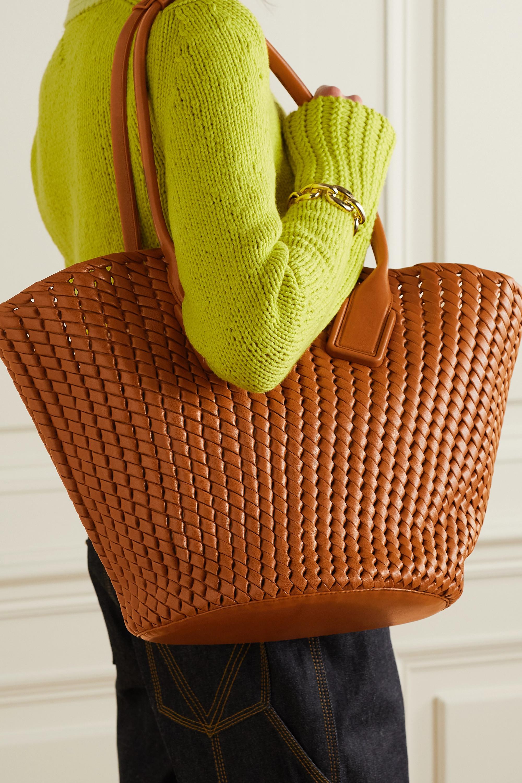 Bottega Veneta Basket intrecciato leather tote