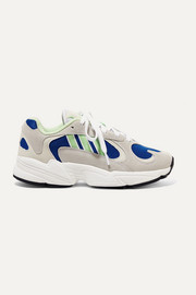 adidas Originals Yung-1 suede and mesh sneakers