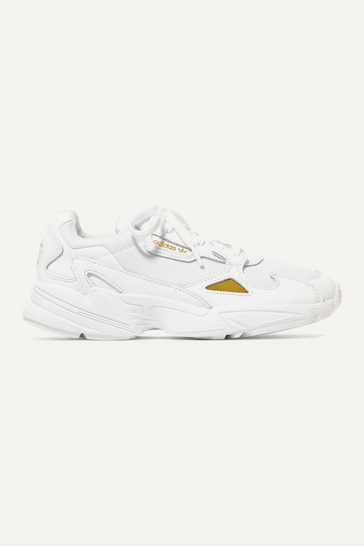 entrada trolebús prestar  White Falcon leather and mesh sneakers   adidas Originals   NET-A-PORTER