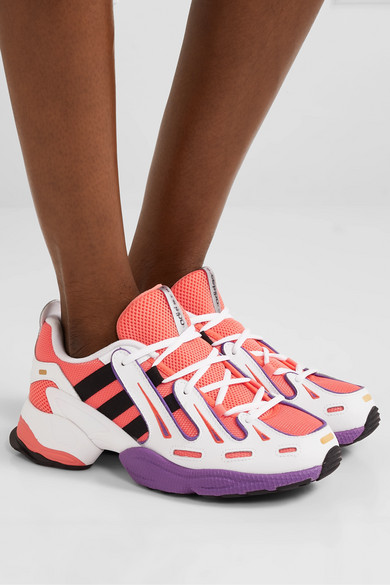 adidas Originals | EQT Gazelle leather and mesh sneakers