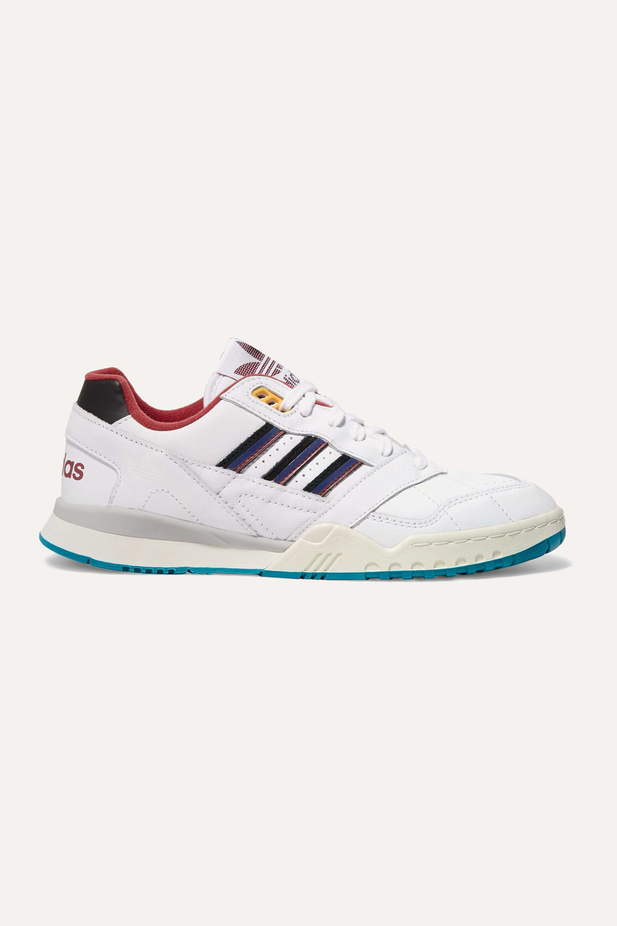 White A.R. Trainer quilted leather