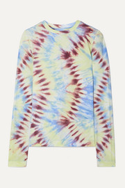 Tory Sport Tie-dyed stretch-jersey top